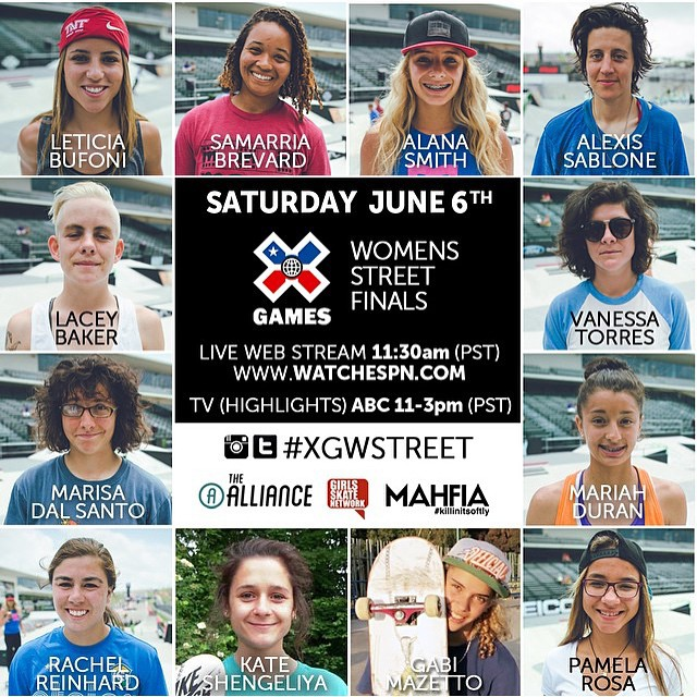 @xgames Austin starts today! Watch Women's Street Finals this Saturday on watchespn.com  Tag your women's xgames photos with #xgwstreet  YEAH LADIES!  #xgames #ladiesofshred