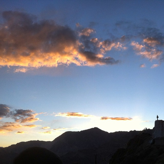Sundown in the Himalayas.