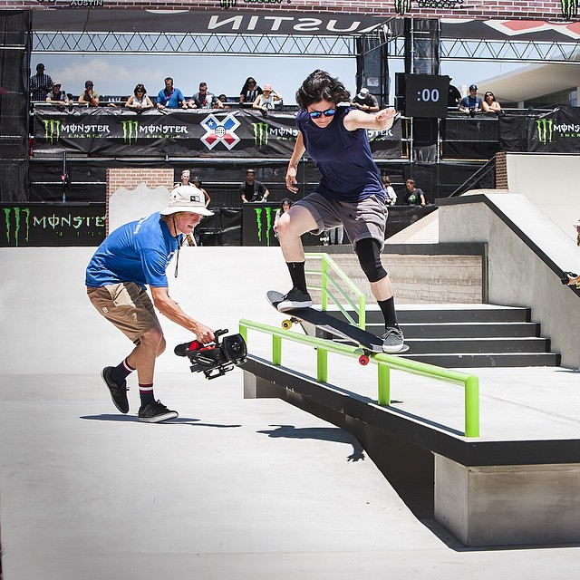 @loccnessy charging practice at #xgames built by @carampworks . #ladiesofshred