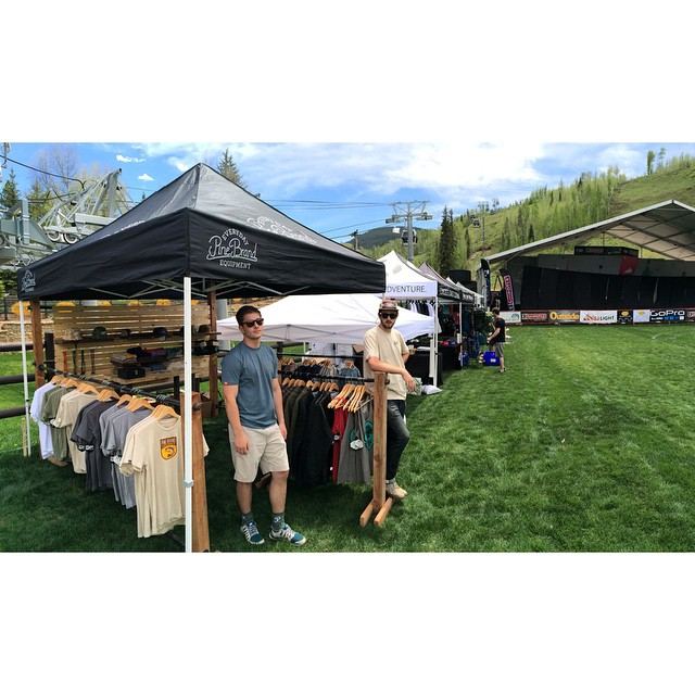 Posted and ready for GoPro Mountain Games - come see us this weekend! // #gopromtngames #pinebrand #EverydayEquipment