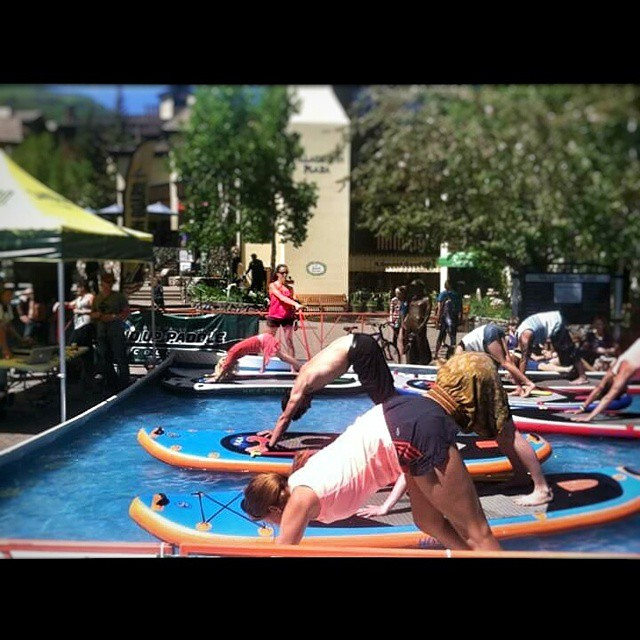 #HalaGear athlete @paddle_yoga_colorado Julie Circo will be teaching SUP Yoga at the @mountaingamesvail ! Be sure to check it out! #sup #theweeklyinsta #standuppaddle #gopromtngames #supyoga #yogadesigned #yogaonsup #namastesup #gopro
