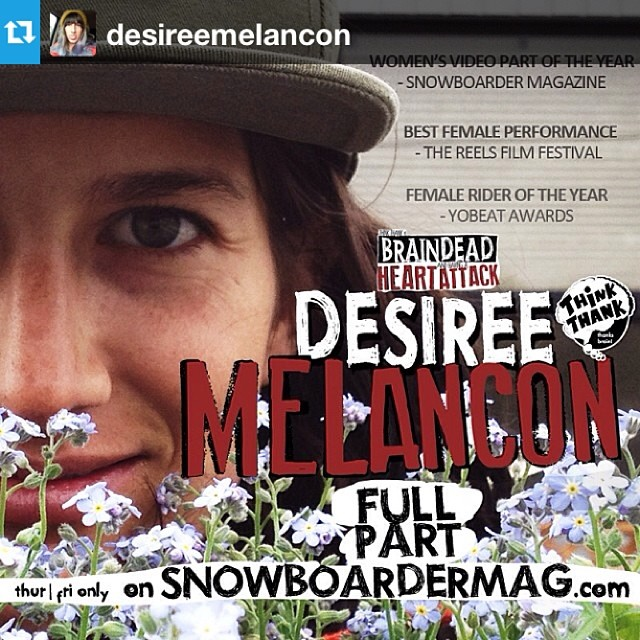 Two days only to check this out on @snowboardermag. #snowboarding #sisterswhoshred #regram @desireemelancon