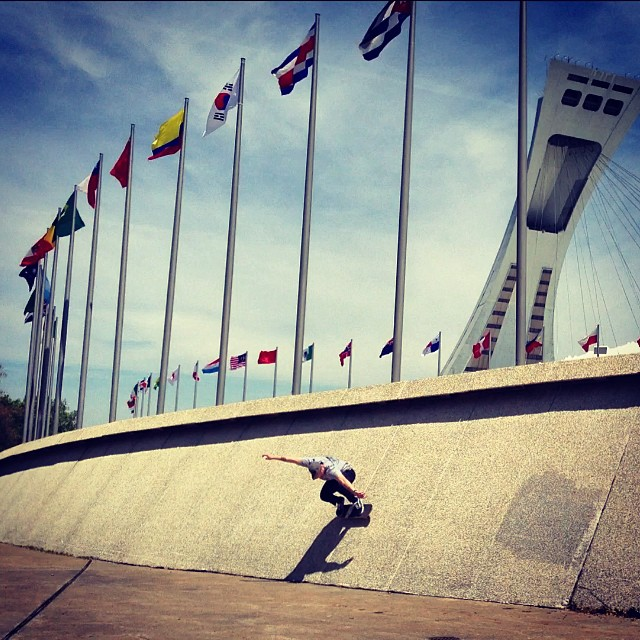 @_tatunka Wall ride at the Olympic Stadium in Montreal, Canada.