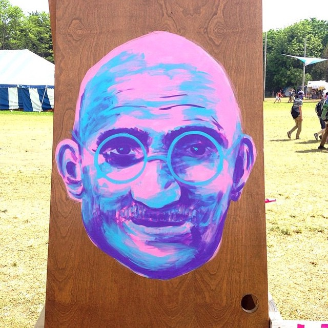 @erthink • • Door to enlightenment.. • • ##atx #ausintx #texas #tx #spratx #er #erthink #bdc #art #streetart #ghandi