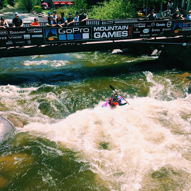 Cruising Steep Creek at the #GoProMtnGames! Come find our tent, we'll be here all weekend #VailSummer @mountaingamesvail @gopro