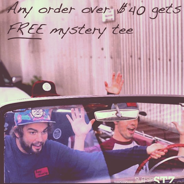 Get a FREE mystery tee when you spend $40 at www.mystz.com // Now until feb. 1st #stzlife #happyshredding #sale #freeshirt #professionaloutsider #wake #skate #surf #snow