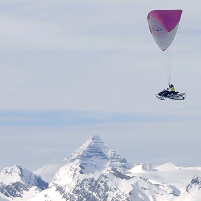 Paragliding + Snowmobiling = ?!