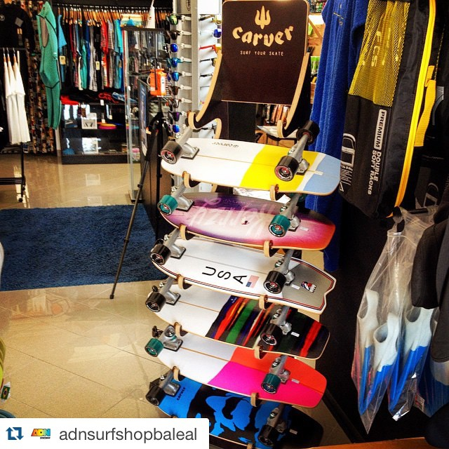 #Repost @adnsurfshopbaleal with @repostapp. ・・・come and get yours yewwww The Carver Skateboards already avaiable!! @carverskate @carver_skateboards