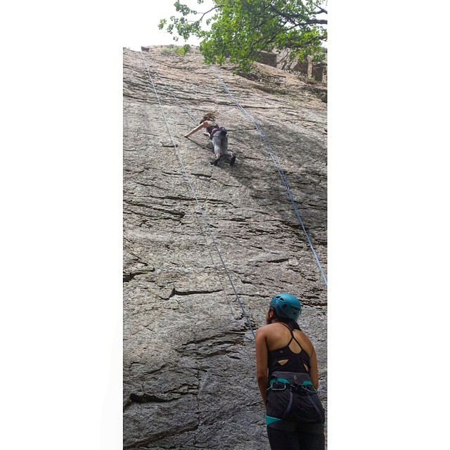 Huge thanks to these ladies for an awesome day at the slips! I'm so grateful to have friends that are willing to teach me new skills like rappelling!