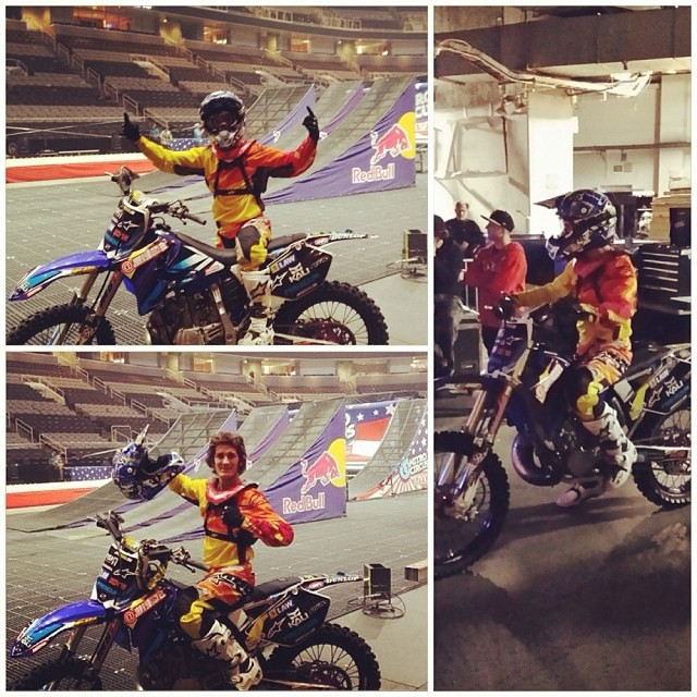 Kali had a blast hanging out with Jarryd McNeil last night at the Nitro Circus Tour in San Jose CA. Here are some pics of Jarryd rockin his signature PRANA FRP McNeil blue helmet! #kali #kalipro #kaliprotectives #kaligear #kalihelmet #kaliathlete...