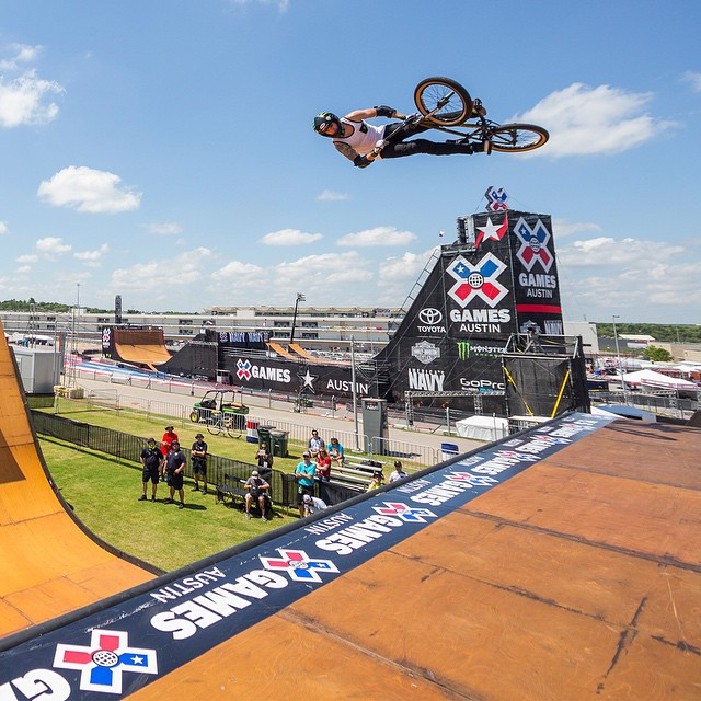Day two of #XGames Austin action will begin with BMX Vert at 12:30 pm ET on ESPN3.  #TeamToyota athlete @jamiebestwick is in pursuit of his 10th consecutive gold medal! (