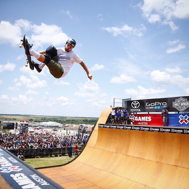 @plg back on top of the podium!  That is his 7th gold medal in Skate Vert. #XGAMES (