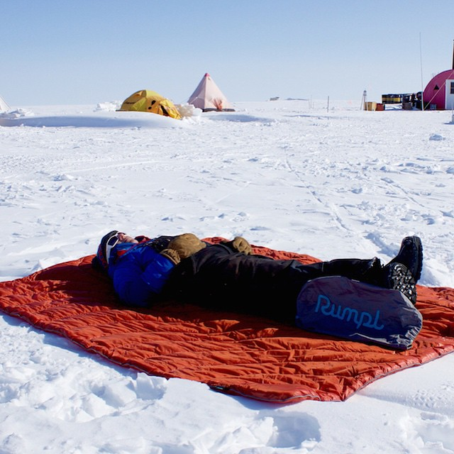 We thought we had seen it all, and then @borderski sent us this picture of an Antarctic sun bathing session. Our life is complete! Check out this badass team of female explorers on our blog and send us your Rumpl pics for a chance to be featured on our...