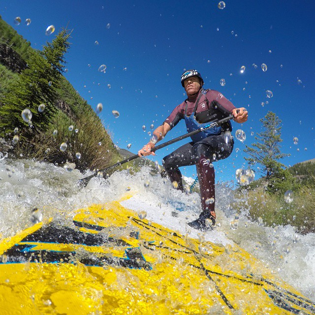 @ChuckPatterson slaying the #whitewater on his SUP! #GoProMtnGames #GoPro