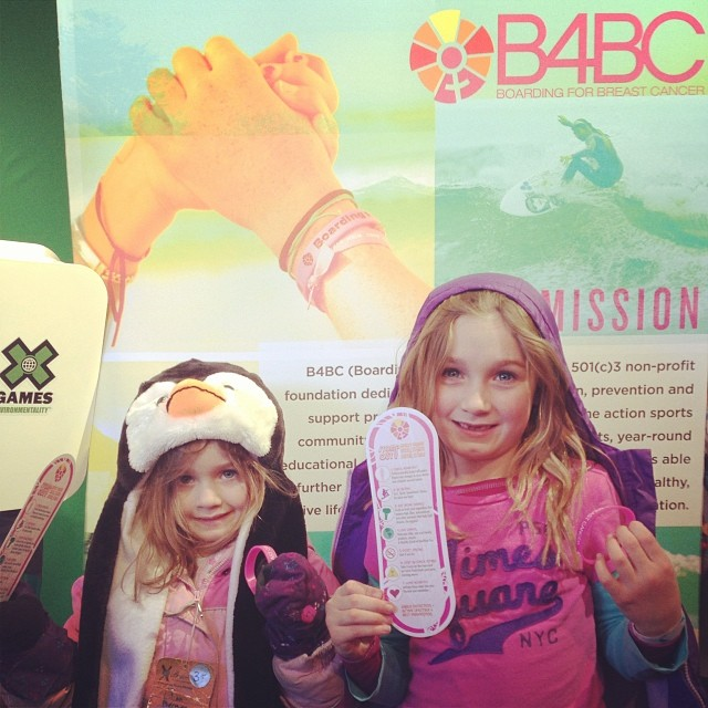 We're having so much fun at Day 1 of #XGames (kids day), educating the little ones about eating veggies and staying active to help prevent #cancer!  Learn more prevention tips at www.b4bc.org #checkonetwo #behealthygetactive