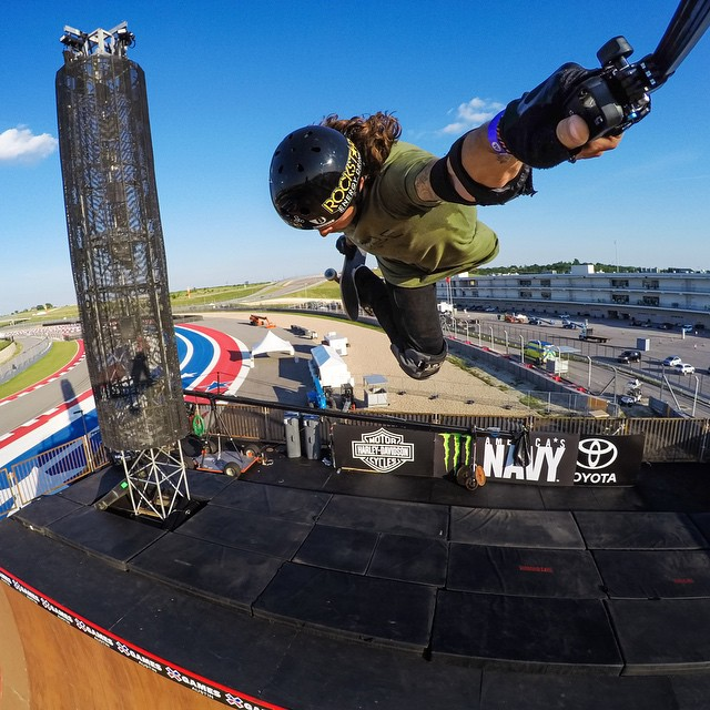 Huge Hi5 to our good friend @elliotsloan for throwin' down one of the best runs at @xgames Skate Big Air! #gopro #xgames #SilverMedal