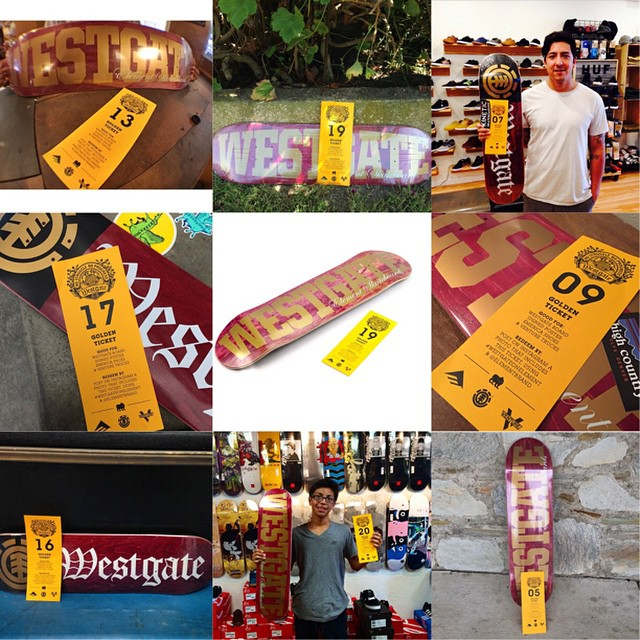 The #westgateonelement giveaway is going off!! Have you gotten a golden ticket? If you have post a photo of it and hashtag #westgateonelement to claim your prize: a pair of @westgatebrandon's @Emerica shoe, @Venturetrucks, a tee and signed poster from...