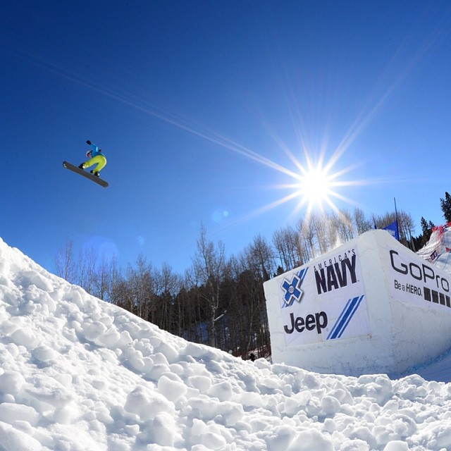 Testing the Boarder X course! #xgames (Photo @joshdup )