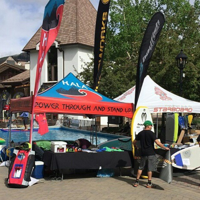 Swing by and visit the Hala Gear tent at the @mountaingamesvail #gopro games!  #sup #theweeklyinsta #standuppddle #gopro #supracing #supyoga #supcross  #supyeah #gopromtngames