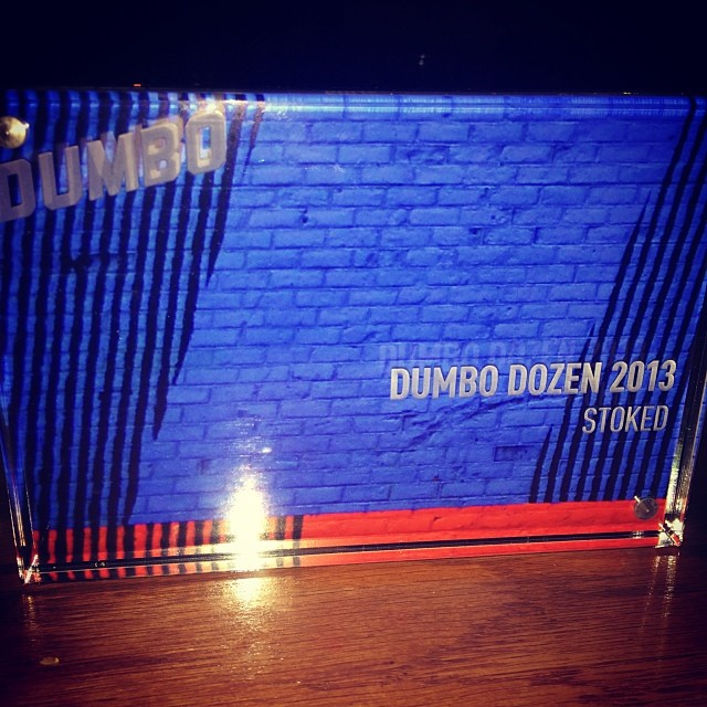 "We just won this award from our local business improvement district called the ""Dumbo Dozen"" It's for 12 companies in #dumbo #brooklyn who were innovative and impactful in their field last year. Congrats to our staff, board, supporters and youth...."