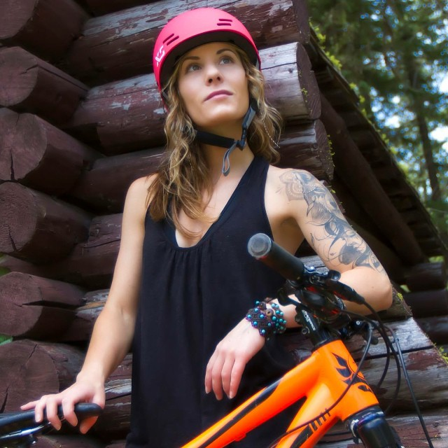 """Have less, do more, be more."" Repost from XS ambassador @shanskouras. Photo: @andymare #xshelmets #bike #mountainbike #nature #forgirlswhoshred #forest #adventure"