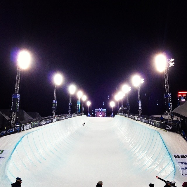 Hello from @xgames #superpipe #snowboarding #skiing #xgames #winter #gobig