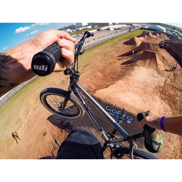 The boys are about to throw down in BMX Dirt! View courtesy of @gopro #XGames