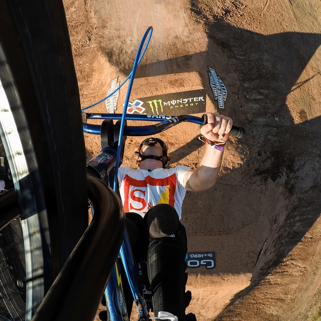 Big ups to @mikehucker for taking home the Silver Medal in BMX Dirt at @xgames! #GoPro #xgames #bmx