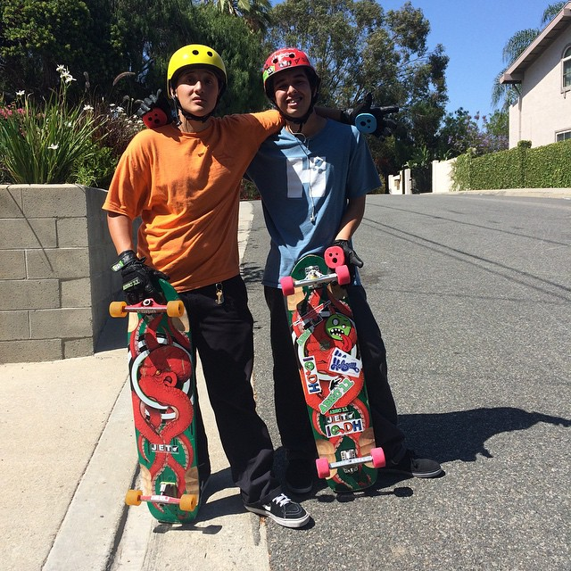 These locals Jessie & Micheal from San Pedro are ready to keep it holesom at the San Pedro shred tomorrow. #keepitholesom @pass_me_my_inhaler