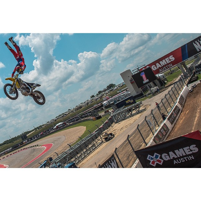 Warming up for Moto X Speed & Style! Action starts at 8pm ET on @espn. #XGames (