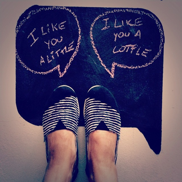 We like you a lottle, it's like a little except a lot ☺ #Paez #like #love #paezmood #shoes #instamood #paezpick #style #message