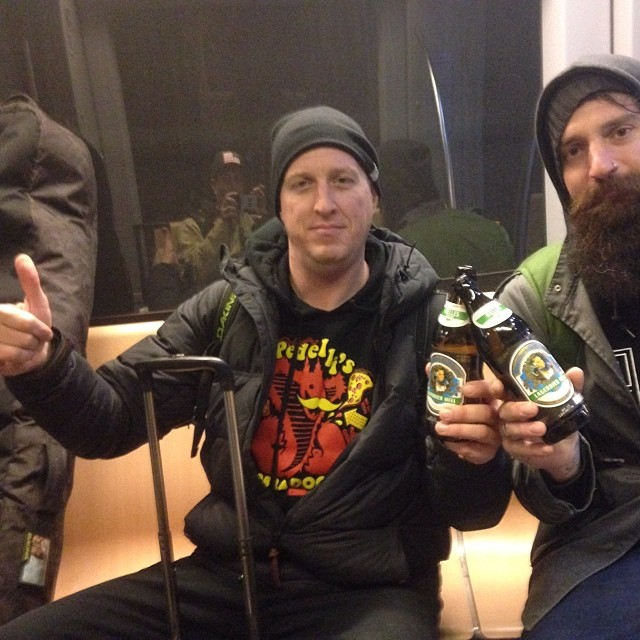 We ran into #marksullivan in Newark, hit the train to #ISPO #dabs #smOKin- up for 36 hours may as well try some German beer..