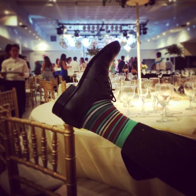#FinDeFiesta con las  #MediasConOnda #UsáSuarez #style #wedding #socks