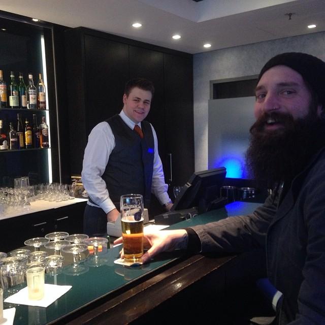 @motorhome enjoying early morning beers his first hour in Germany !! #forridersbyriders #handmadelaketahoe