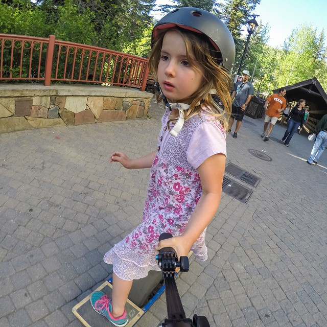 One-wheel skateboard, no big deal! #GoProGirl #GoProMtnGames  #GoPro #GirlPower @VailMtn