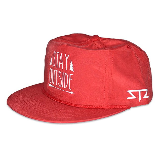 Limited red nylon stay outside snapbacks now available! |
