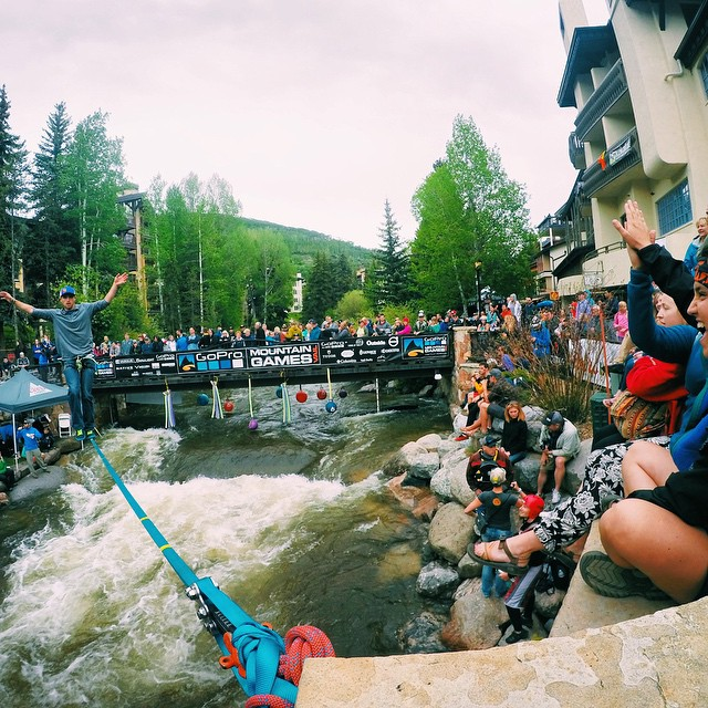 2015 #GoProMtnGames watching the #Slackline! @mountaingamesvail