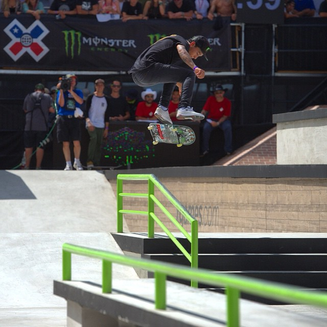This is what gold looks like at #XGames Austin 2015! @nyjah does it again with an impressive performance in Skateboard Street. (