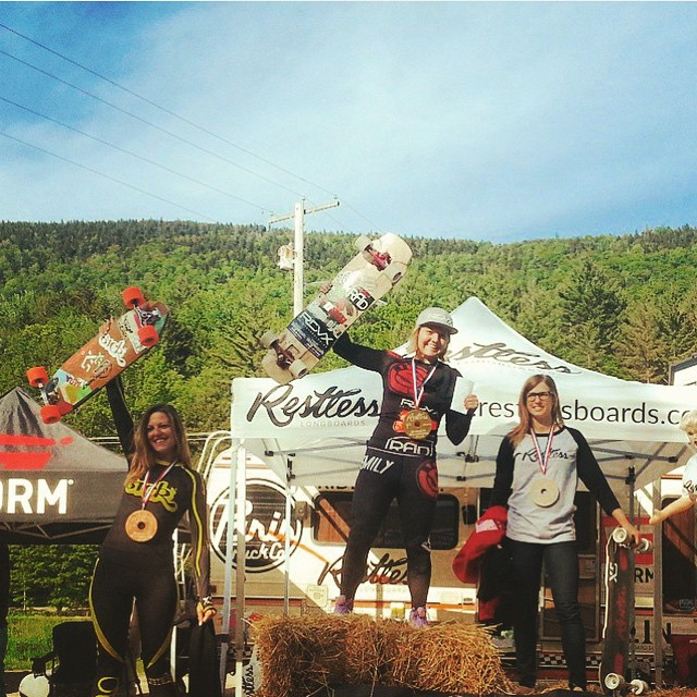 Repost from @idfracing  Restless Downhill Throwdown WKS at Killington Vermont Women's Podium!  1. @emilylongboards  2. @cassandraduchesne  3. @spokywoky  YEAH LADIES!  #longboardgirlscrew #girlswhoshred #womensupportingwomen #SkateLikeAGirl #idfracing