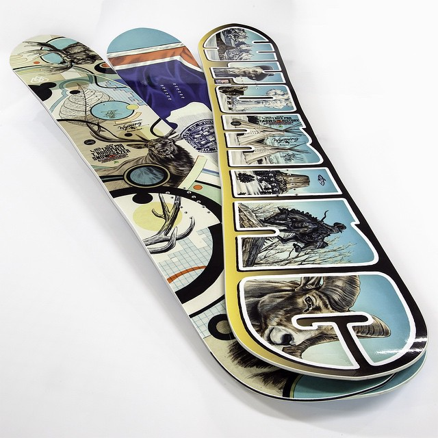 Tomorrow (5/9/15) is the LAST day to put yourself in the hat to win one of these. An extremely limited edition @libtechnologies deck with a @travisrice x @jhtim design... You know what to do. Link in profile #wyoming #travisrice #youwontwinifyoudontplay