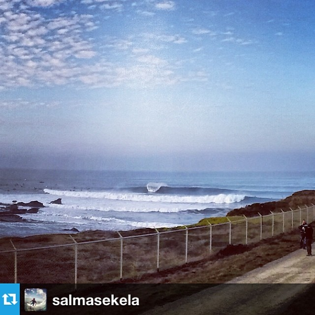 Bombs at Half Moon Bay #Mavericks is going off for today's  Invitational #Regram from @salmasekela
