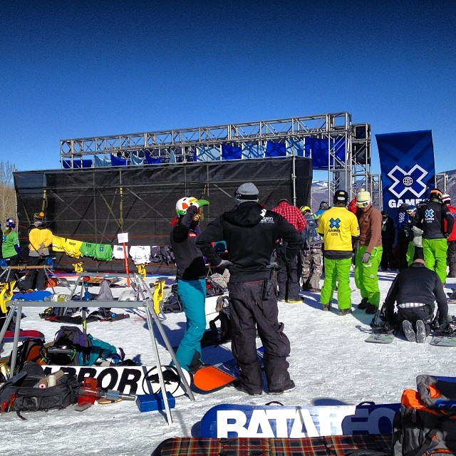 Good Morning from @xgames - Master Tuning going down right now for Boarder X #xgames #needforspeed #aspen #snowboarding