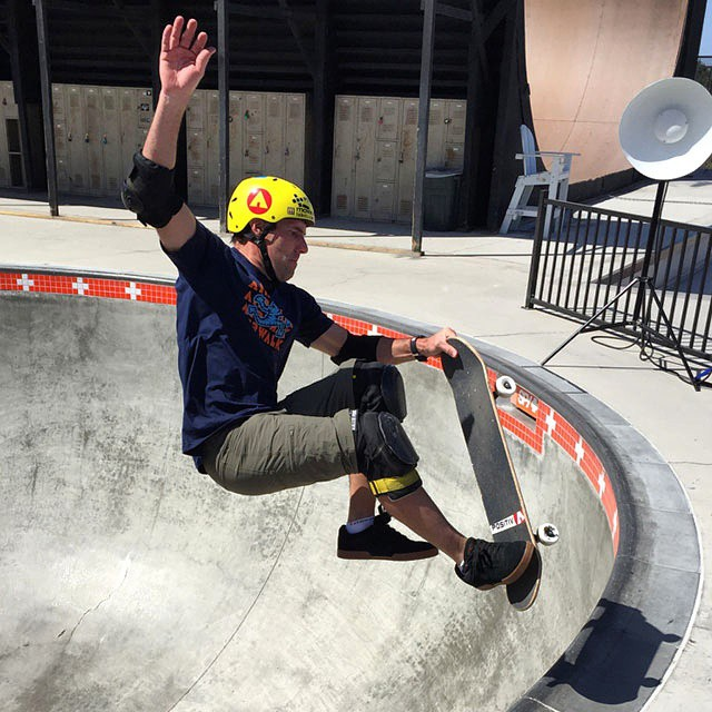 Behind the scenes: @andymac720 lays down some moves during our 2015 photoshoot. #AirwalkSkate #BTS