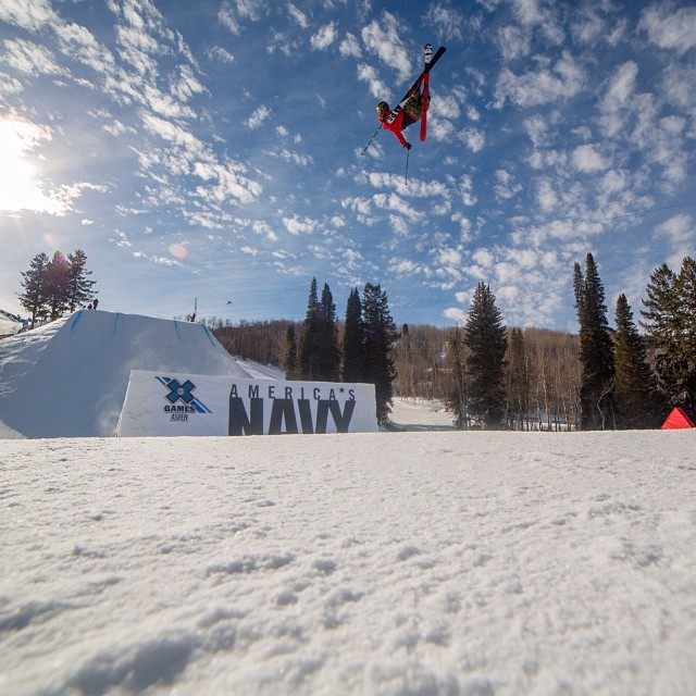 Men's Ski Slopestyle Elims starting now on ESPN3.com. Go big or go home! #XGames