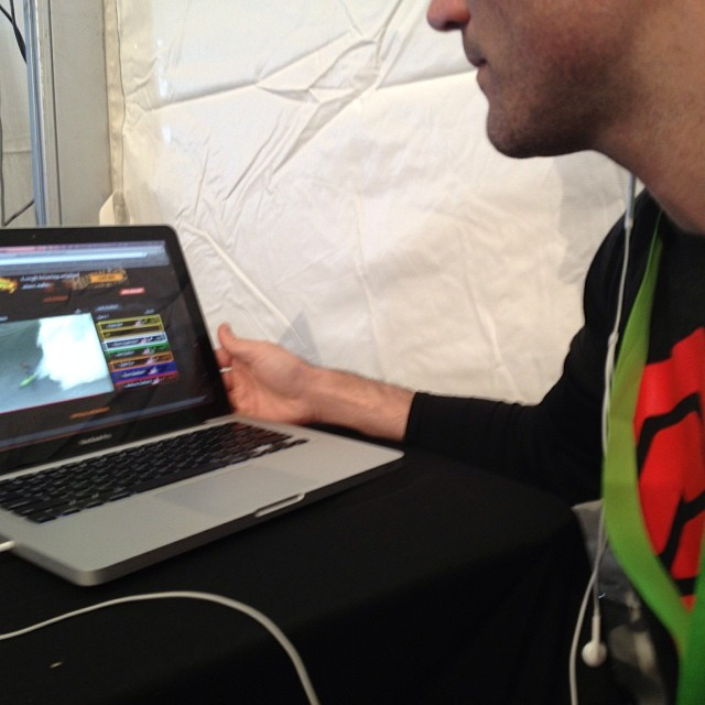 Multi-tasking at #xgames - @mcelberts catching up on the #mavericksinvitational from the media tent