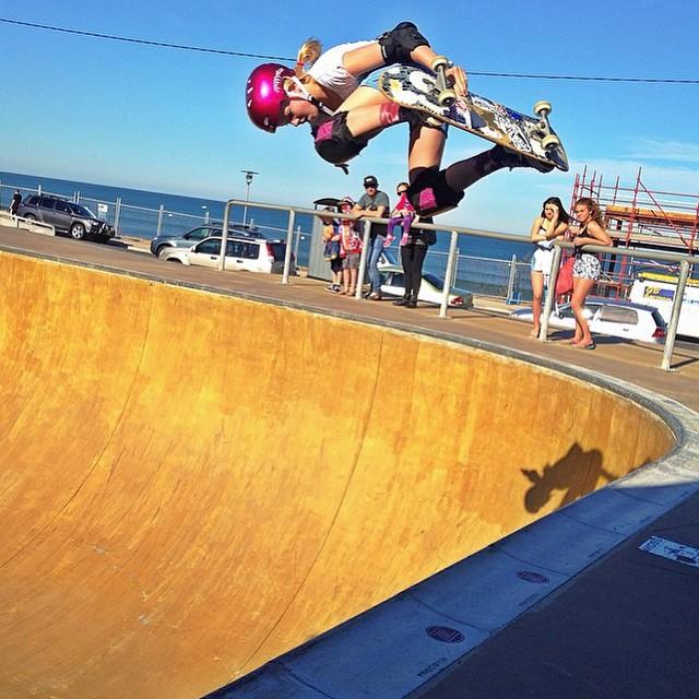 @poppystarr soaring in Australia! #ladiesofshred @girlsskateaustralia