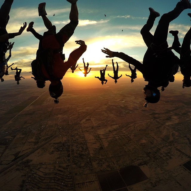 Photo of the Day! @Jump_Junkie captures the view from 6000 feet above Arizona! Submit your best photos by clicking the link in our profile. #Arizona #Skydive #Sunset #PhotoOfTheDay