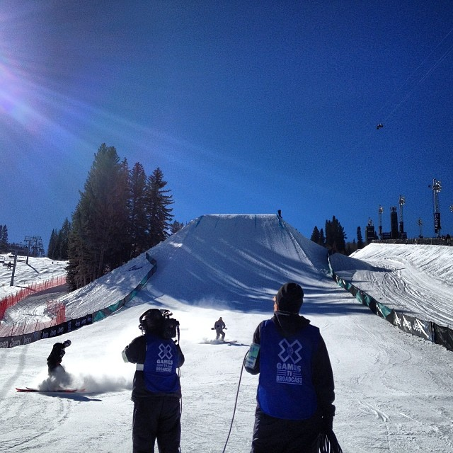 .@nickgoepper just grabbed a 91 in Ski #Slopestyle elims #xgames #skiing #sochibound