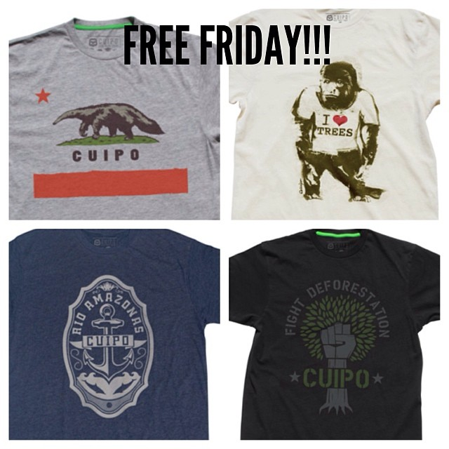 FREE FRIDAY! Tag as many people as possible in the comments. Winner can choose any mens tee from cuipo.org or you can use the code FFMENS to save 15% till sunday. Winner will be chosen monday. #goodluck #freefriday #saverainforest #cuipo #free #friday...