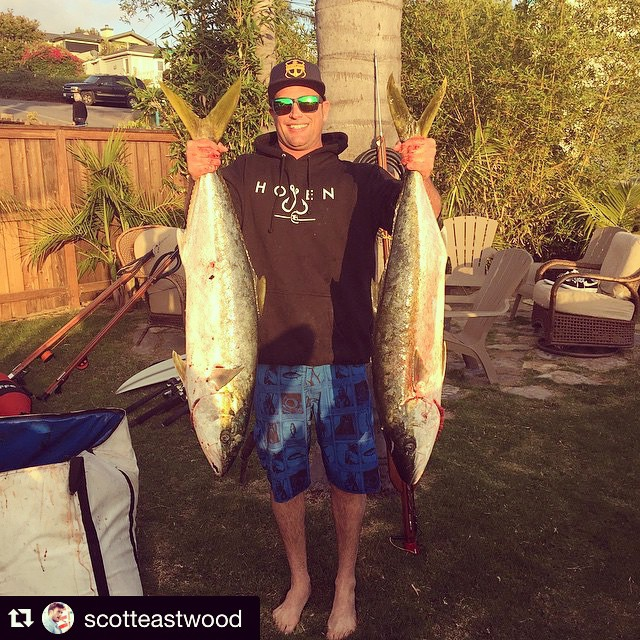 Hoven ambassadors @scotteastwood and @culvernation dig the new #hovenvision gear. We know you will too. #teamhoven #catchinabuzz #keepinitreel #fish #slugsnotdrugs #pacific #sandiego ・・・ My boy @culvernation crushing it today.  Brining home the bacon. ...